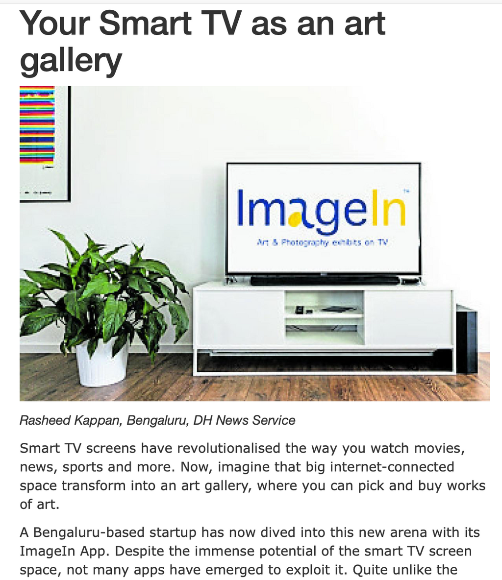 Your SmartTV as an Art Gallery