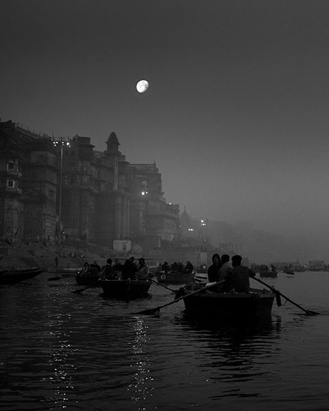 Moon over Ganges