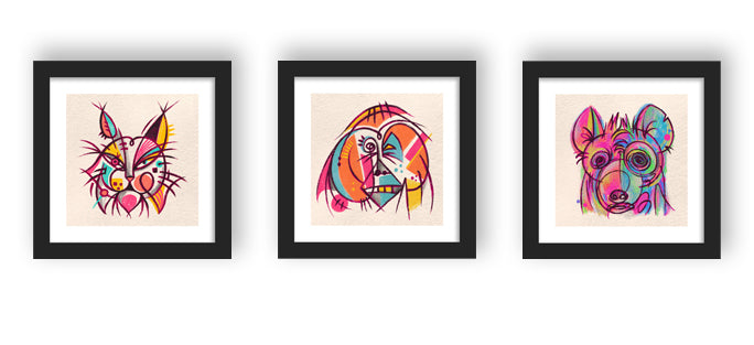 Wild Art - Abstract Triptych
