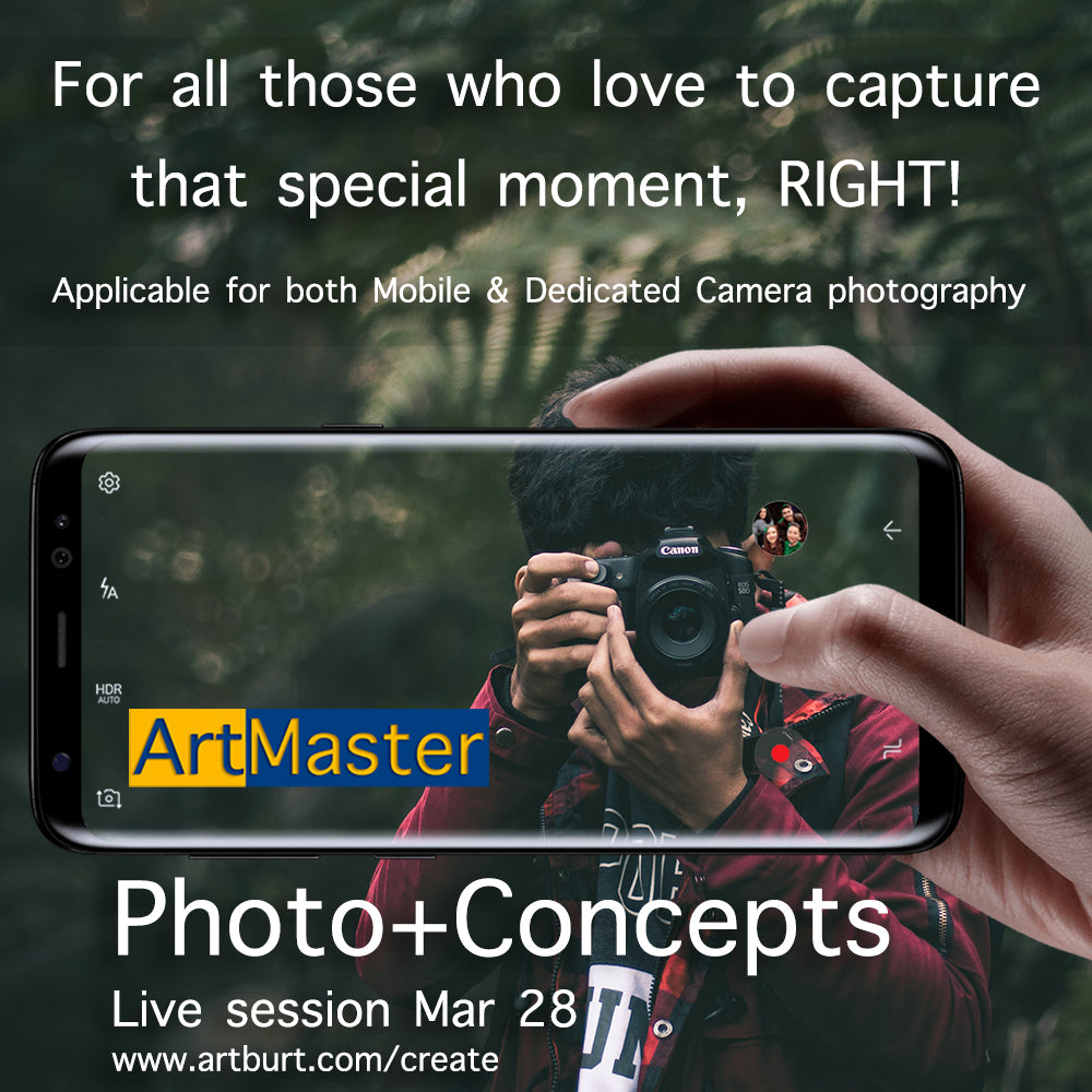 ArtMaster Photo Concepts 2hrs Live Online Session - Batch 2 Mar 28th