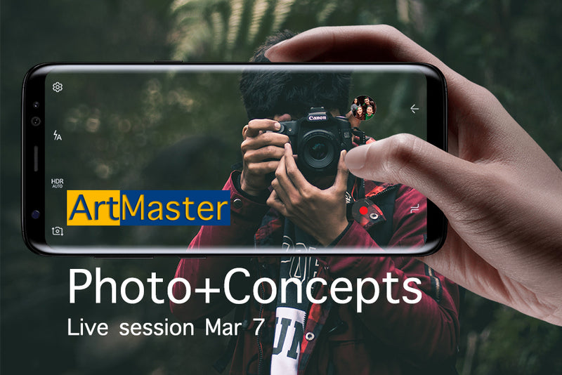 ArtMaster Photo Concepts 2hrs Live Online Session Mar 7