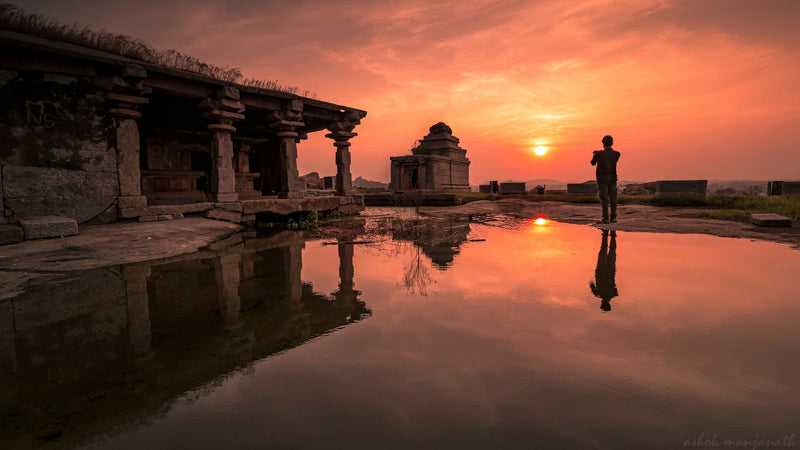 Another REFECTION AT HEMAKUTA HAMPI