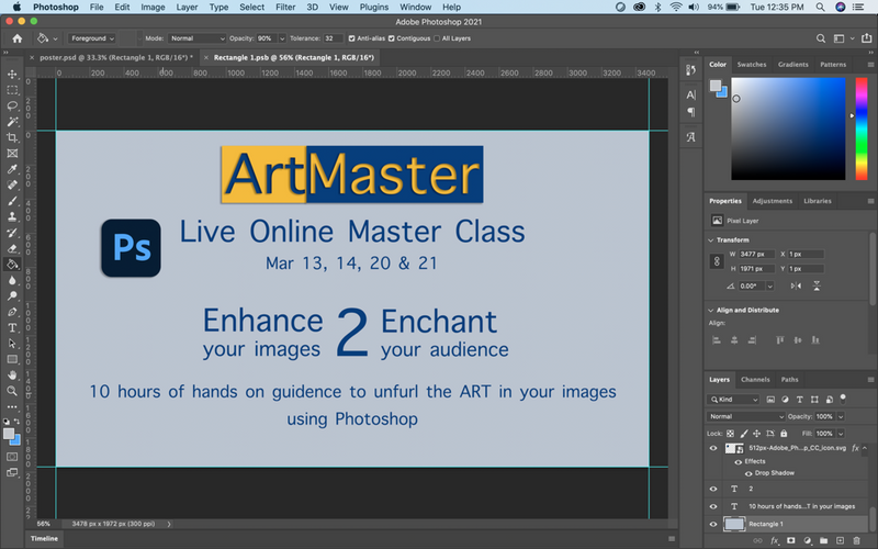 ArtMaster Photoshop live sessions - Enhance 2 Enchant