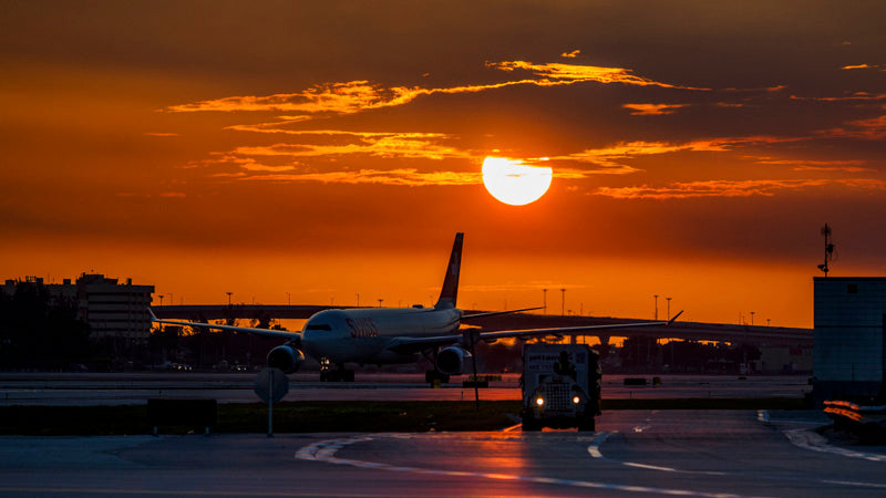 Sunset at Miami Airport