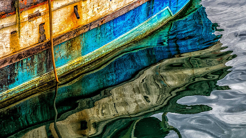 Boat Reflections - ArtBuRt