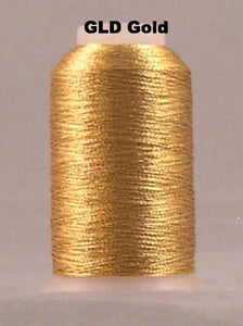 YLI 601 Fine Metallic Thread - Click for full colour range.