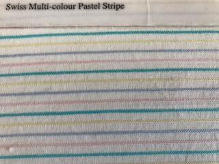 Swiss 100% Cotton Voile - Multicolour Pastel Stripe - FVOILEMULTI STRIPE
