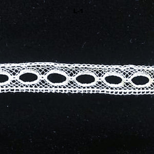 L-1 White, Ivory and Ecru - Lace Beading Plain.