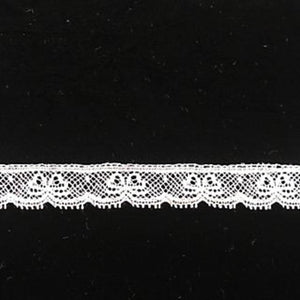 L-5 White, Ivory and Ecru - Lace Edging - 12mm bows design.