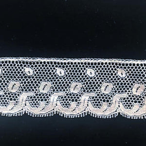 L-20 White, Ivory and Ecru - Lace Edging - 38mm.