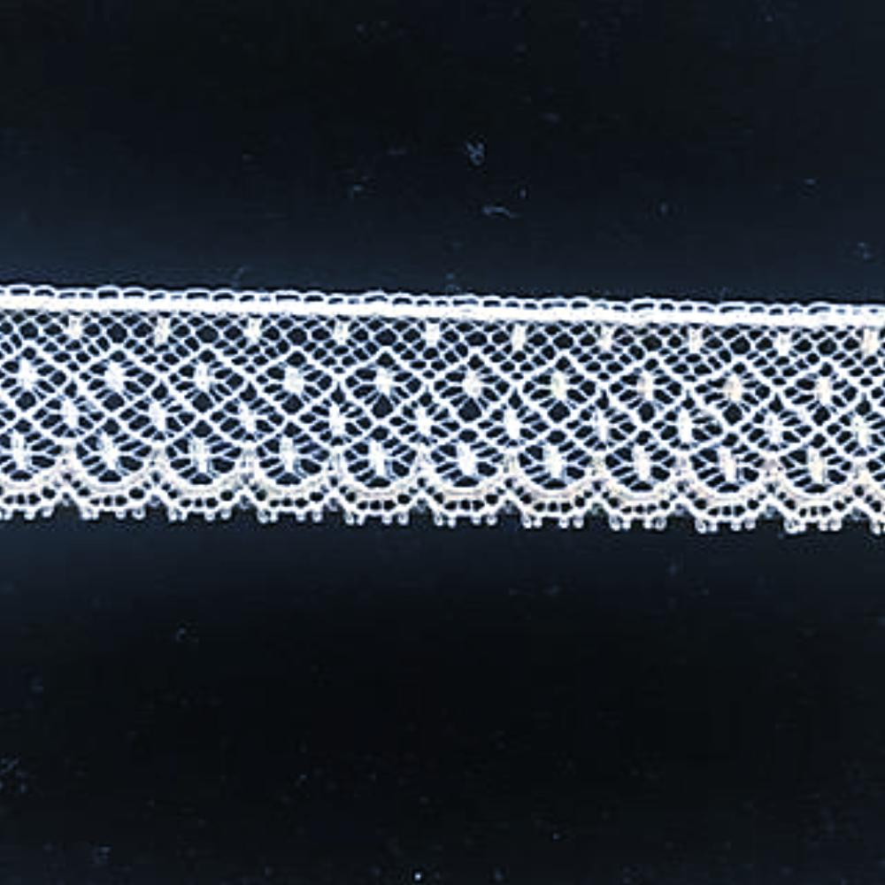L-31 White and Ivory -  French Lace Edging