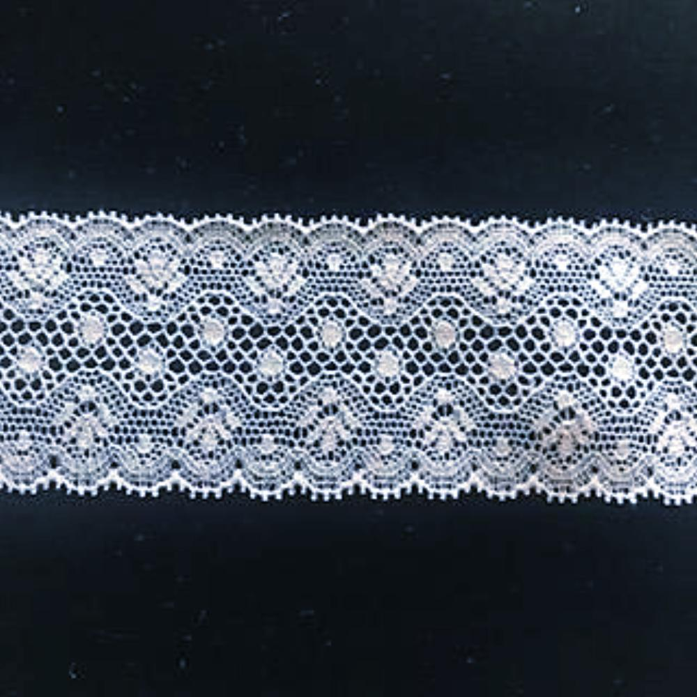 L-40 White and Ivory - Lace Double Edging - 35mm Daisy Design.