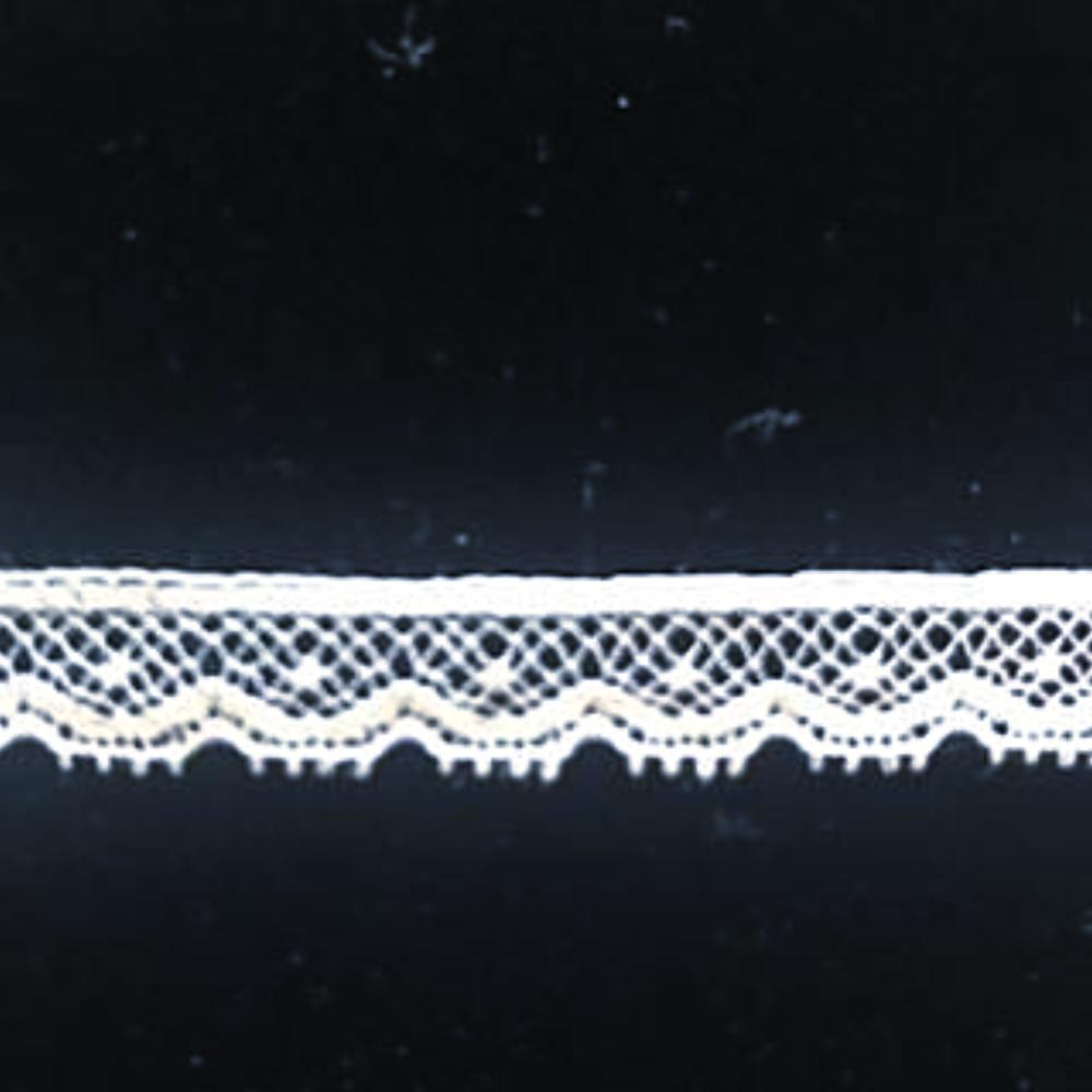 L-41 White and Ivory - Lace Edging - 8mm.