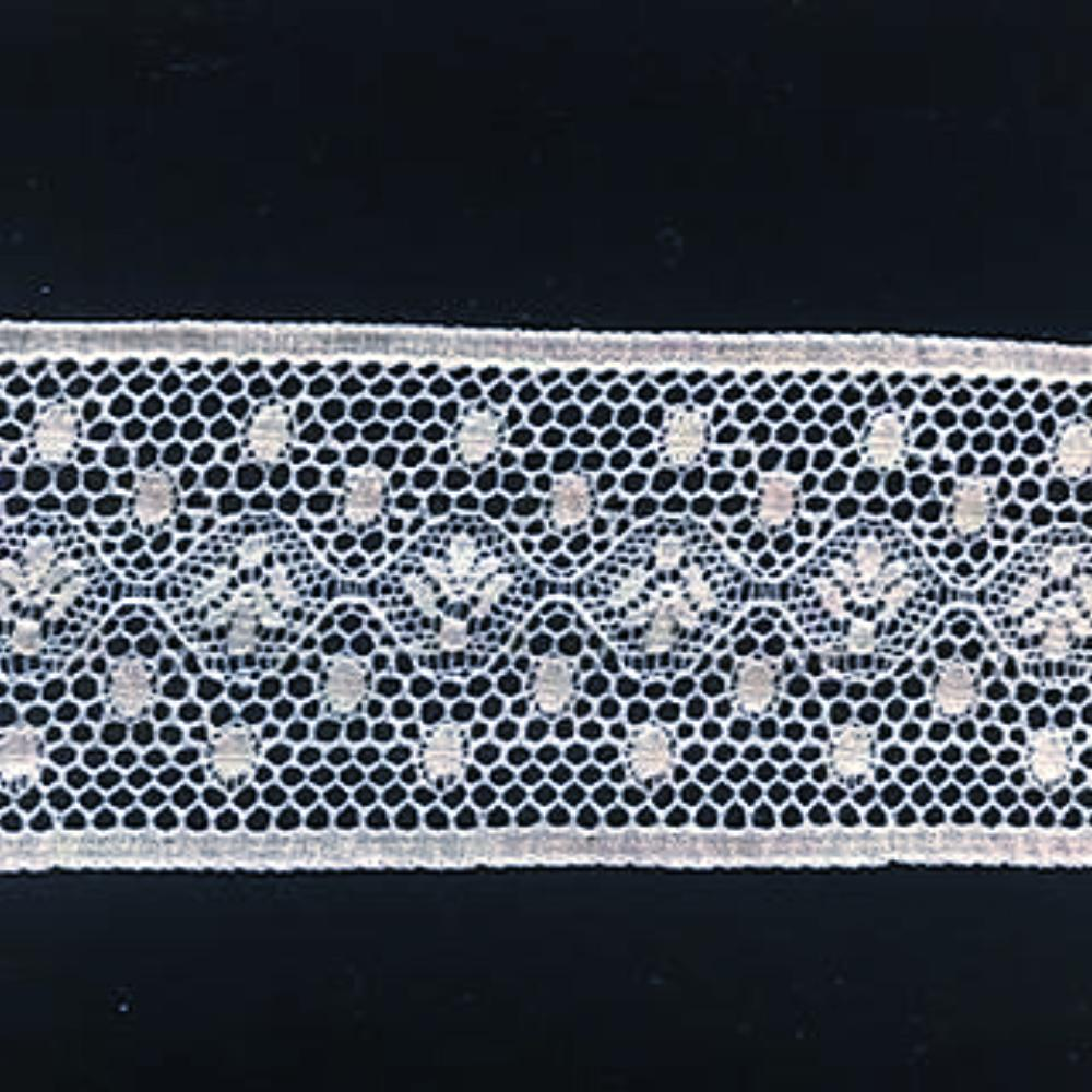 L-46 White - Lace Insertion - 40mm Angel Lace Design.