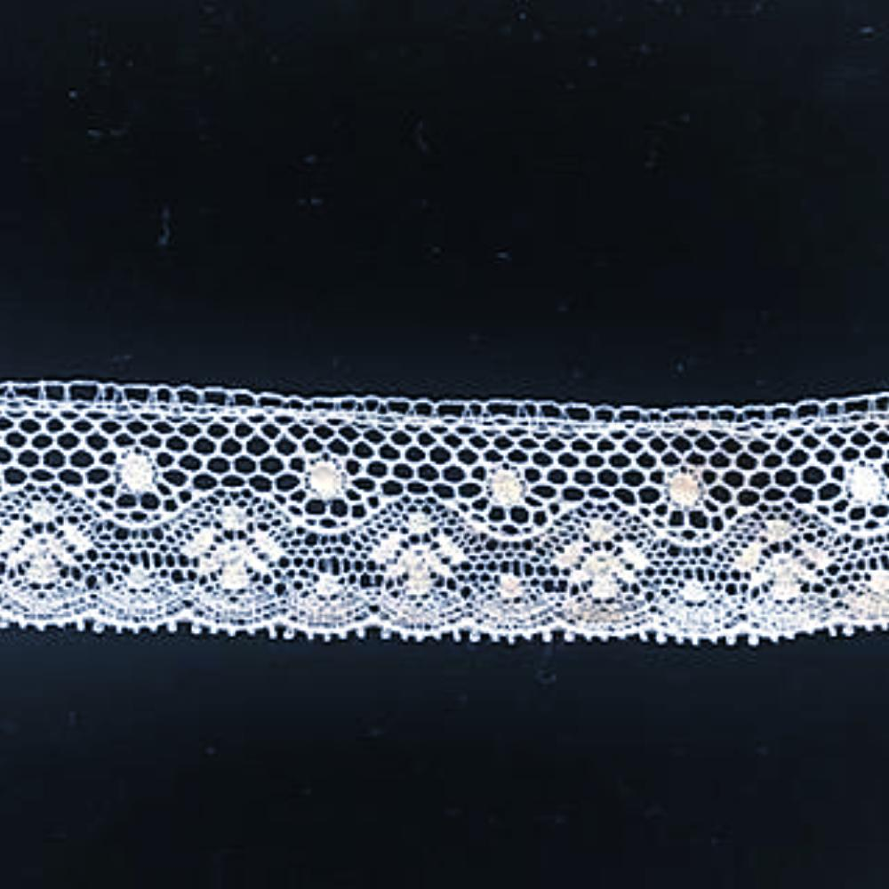 L-49 White - French Cotton Lace Edging.