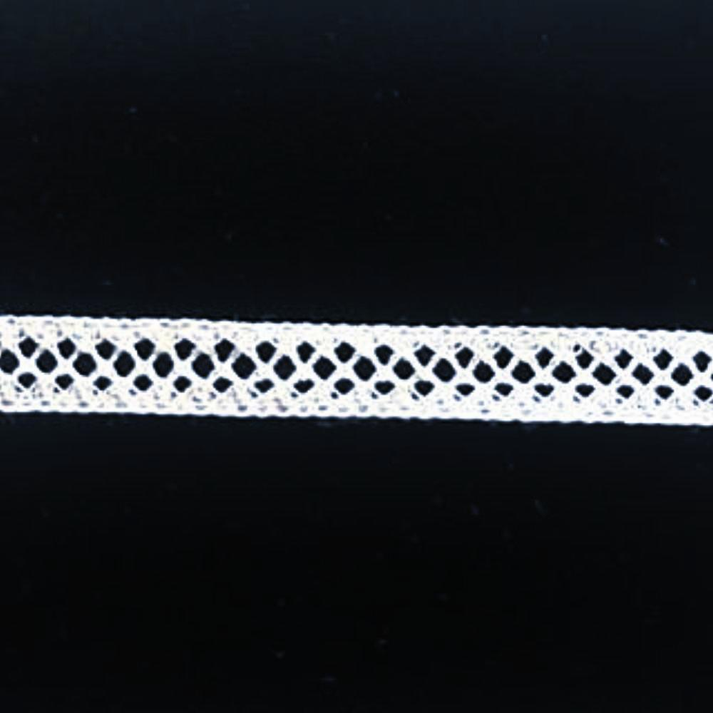 L-53 White, Ivory and Ecru - Lace Insertion - 10mm Criss Cross Design.