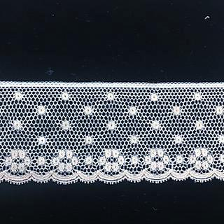L-67 White - Lace Edging - 45mm Open Flower Design.