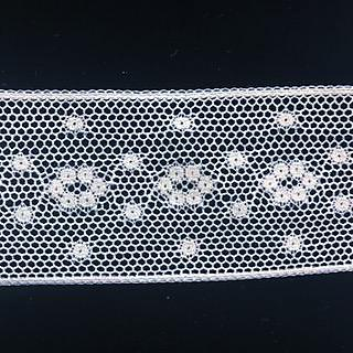 L-68 White - French Cotton Lace Insertion - 45mm.