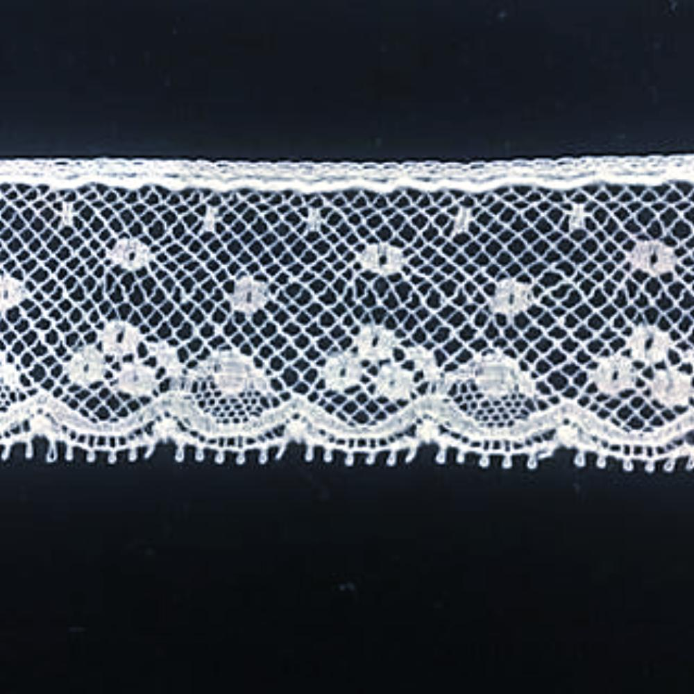 L-140 White and Ivory - Lace Edging - 20mm Open Design.