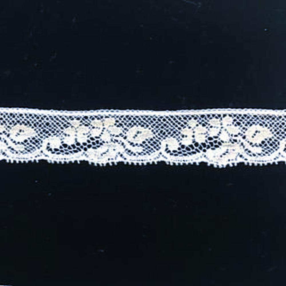 L-632 White - Lace edging - 20mm Small Flower Design.