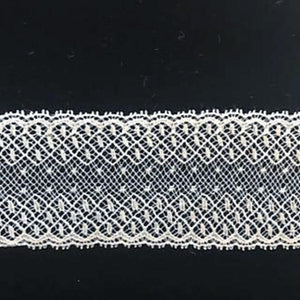 L-30 Ivory - French Cotton Lace - 35mm Galloon