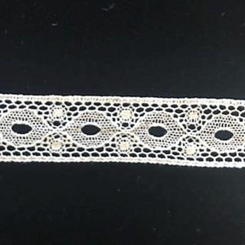 L-42 Ivory - Lace Insertion - 18mm Circular Design.