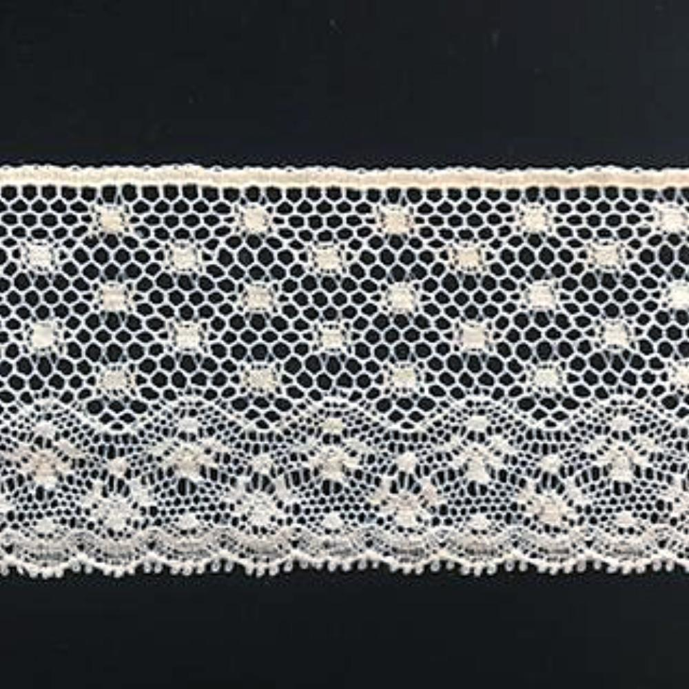 L-47 Ivory - Lace Edging - 50mm Angel Lace Design.