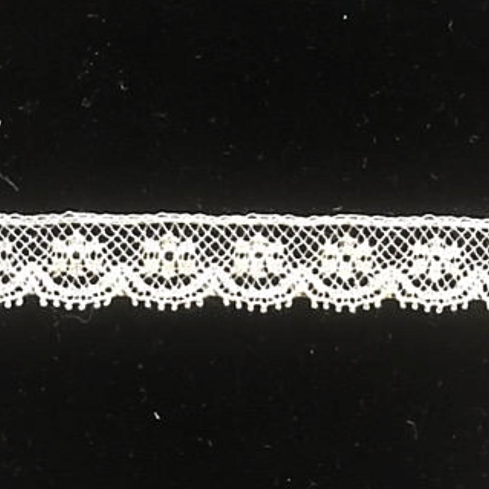 L-145N Ecru - Lace Edging - 12mm Original Bow Design.