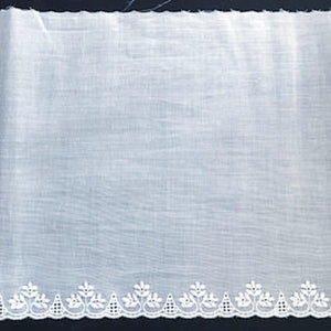 E-44 White - 160mm Embroidered Edging.