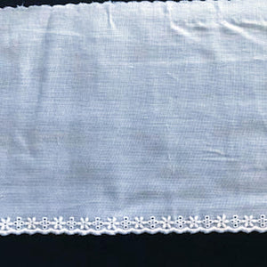 E-67 White and Ivory - 130mm Embroidered Edging.