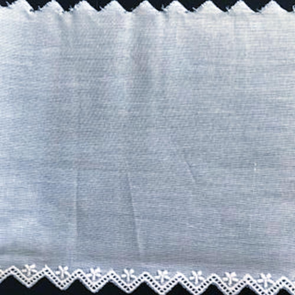 E-75 White and Ivory - 130mm Embroidered Entredeux Edging.