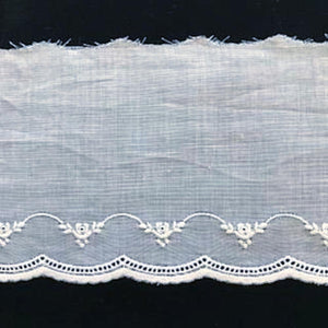 E-83 White and Ecru - 76mm Embroidered Edging.