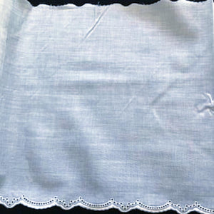 E-89 White - 220mm Embroidered Edging.