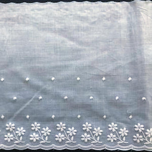E-103 White - 160mm Embroidered Edging.
