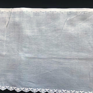 E-107 White and Ivory - 135mm Embroidered Edging.