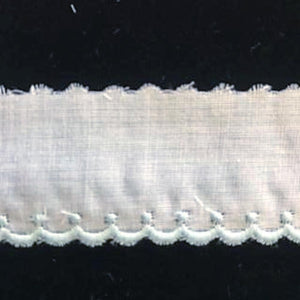E-29 - coloured - 30mm Embroidered Edging - coloured.