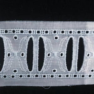 E-49 coloured - 40mm Embroidered Insertion - suitable for Beading with ribbon.