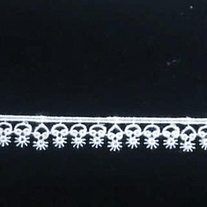 E-710 White - 12mm Swiss Cotton Guipure Edging.