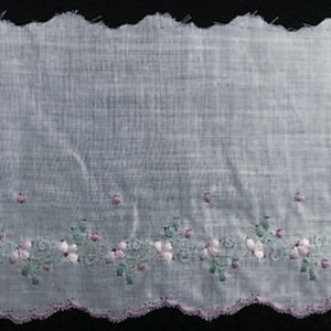 E-149 Triessen Rose - 80mm Coloured Embroidered Edging.