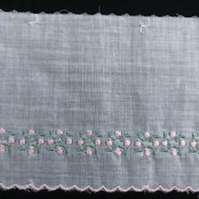 E-157 Pink and Blue - 85mm Embroidered Edging - coloured.