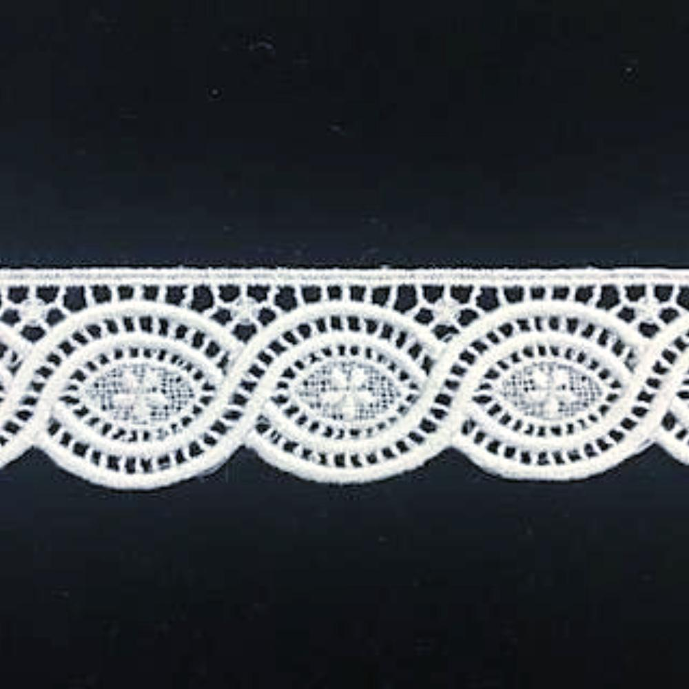 E-681 White - 25mm Swiss Cotton Embroidery Edging.
