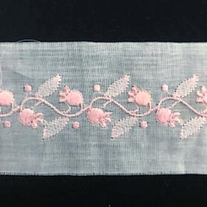 E-912 Pink - 45mm Swiss Cotton Handloom Embroidery