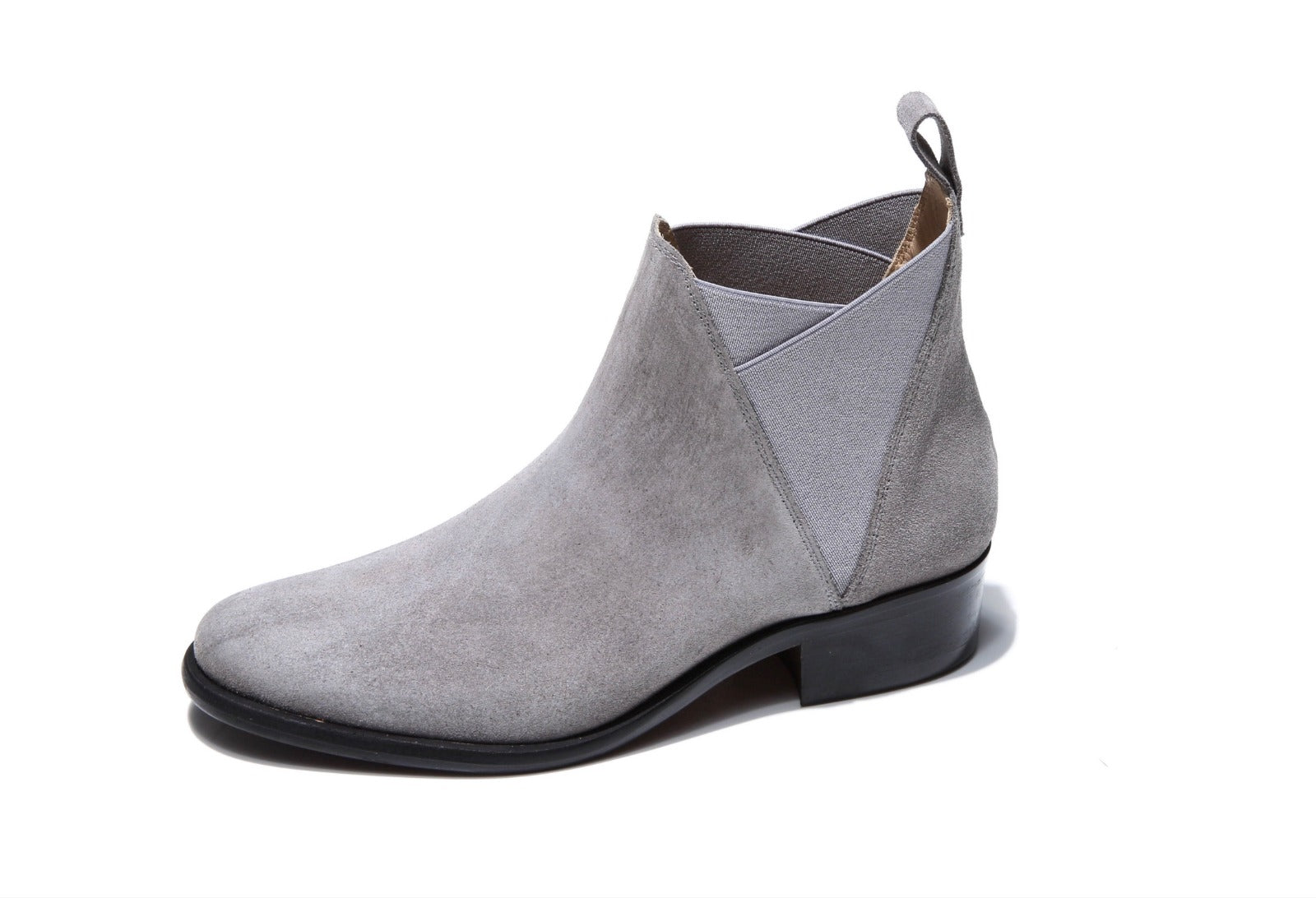 Grey Low-heel Chelsea