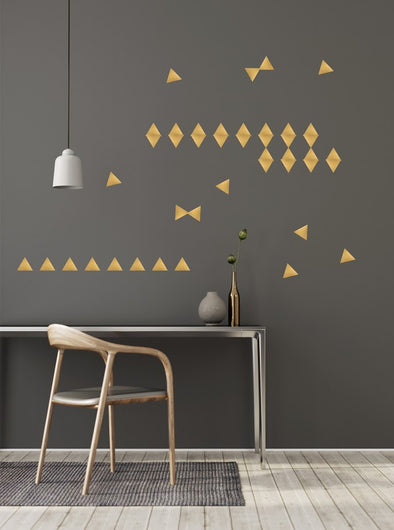 Stickers triangles or - Pöm le bonhomme - Loulook Kids