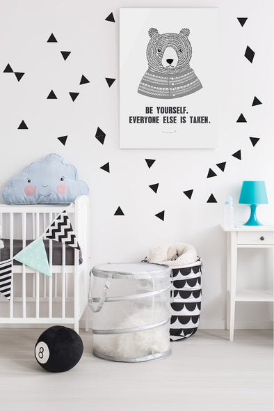 Stickers triangles noir - Pöm le bonhomme - Loulook Kids