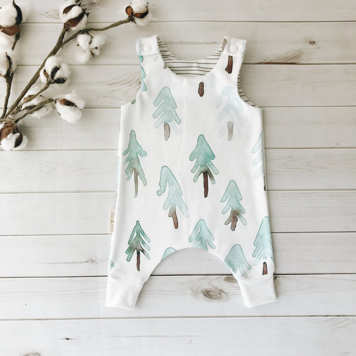 Watercolor Pine Romper