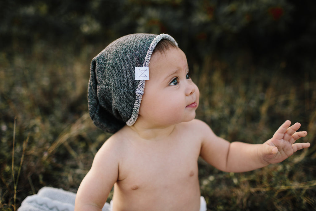 Charcoal Slouch Beanie