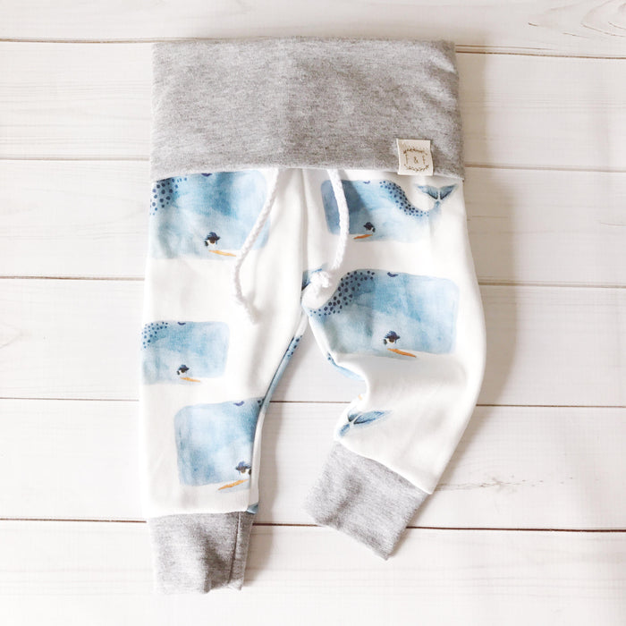Watercolor Whale Joggers