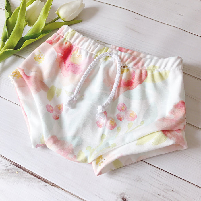 Watercolor Summer Flower Shorties