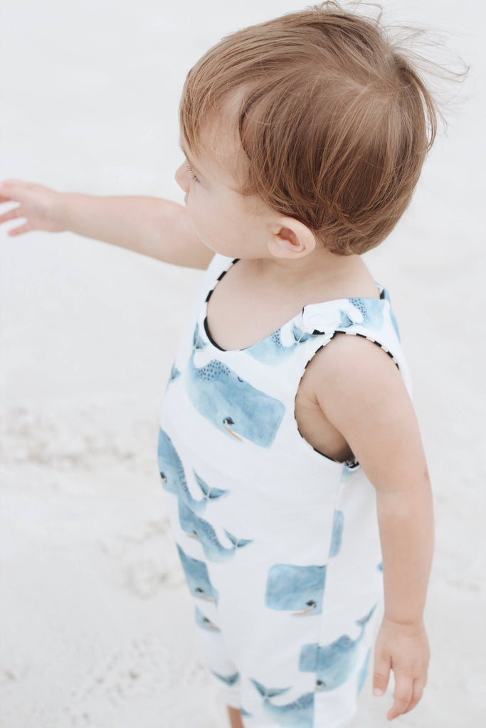 Watercolor Whale Romper